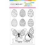 Photo Play Paper - Bunny Trail Collection - Color Me - 4 x 6 Cards with Egg Die