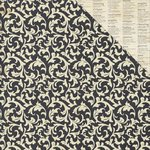 PhotoPlay Paper - Belle Vie Collection - 12 x 12 Double Sided Paper - Black Damask