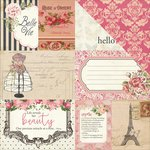 Photo Play Paper - Belle Vie Collection - 12 x 12 Double Sided Paper - 4x6 and 3x4 Cards