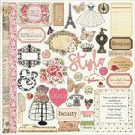 PhotoPlay Paper - Belle Vie Collection - 12 x 12 Cardstock Stickers - Elements