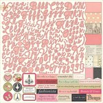 PhotoPlay Paper - Belle Vie Collection - 12 x 12 Cardstock Stickers - Alphabet