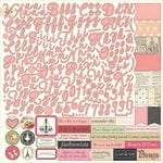 Photo Play Paper - Belle Vie Collection - 12 x 12 Cardstock Stickers - Alphabet