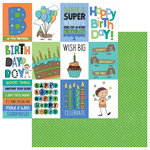 Photo Play Paper - Birthday Boy Wishes Collection - 12 x 12 Double Sided Paper - Wish Big