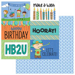 Photo Play Paper - Birthday Boy Wishes Collection - 12 x 12 Double Sided Paper - It's Your Day