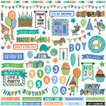 Photo Play Paper - Birthday Boy Wishes Collection - 12 x 12 Cardstock Stickers - Elements