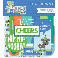 Photo Play Paper - Birthday Boy Wishes Collection - Ephemera