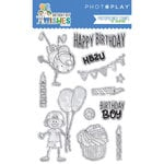 Photo Play Paper - Birthday Boy Wishes Collection - Clear Acrylic Stamps