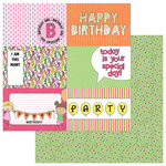 Photo Play Paper - Birthday Girl Wishes Collection - 12 x 12 Double Sided Paper - Hip Hip Hooray
