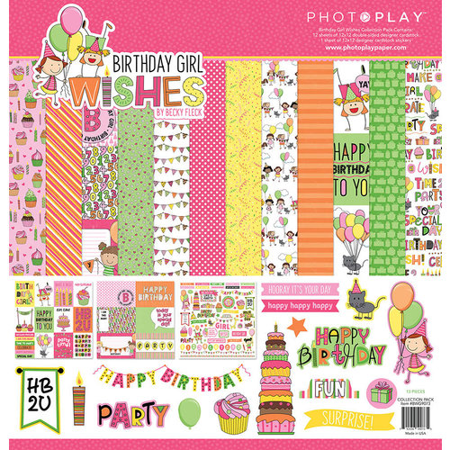 Photo Play Paper - Birthday Girl Wishes Collection - 12 x 12 Collection Pack