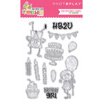 Photo Play Paper - Birthday Girl Wishes Collection - Clear Acrylic Stamps