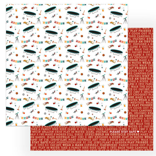 Photo Play Paper - Cabin Fever Collection - 12 x 12 Double Sided Paper - Please Stay Safe