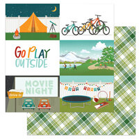 Photo Play Paper - Cabin Fever Collection - 12 x 12 Double Sided Paper - Go Play Outside