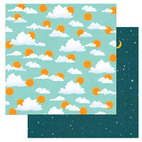 Photo Play Paper - Cabin Fever Collection - 12 x 12 Double Sided Paper - Morning Till Night