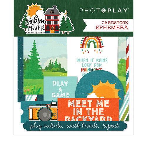 Photo Play Paper - Cabin Fever Collection - Ephemera