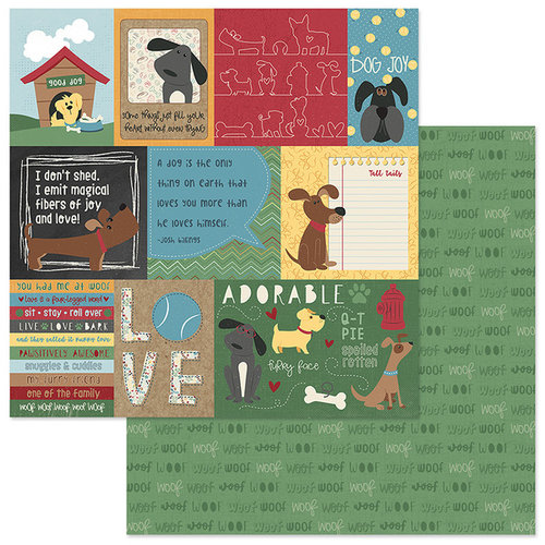 Photo Play Paper - Cooper and Friends Collection - 12 x 12 Double Sided Paper - Good Dog