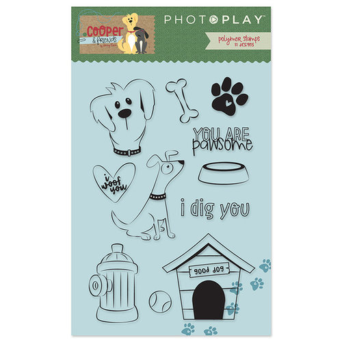 Photo Play Paper - Cooper and Friends Collection - Clear Acrylic Stamps