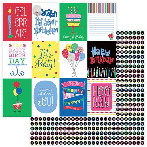 Photo Play Paper - Confetti Collection - 12 x 12 Double Side Paper - Celebrate