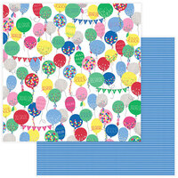 Photo Play Paper - Confetti Collection - 12 x 12 Double Side Paper - Hooray