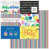 Photo Play Paper - Confetti Collection - 12 x 12 Double Side Paper - Happy Birthday