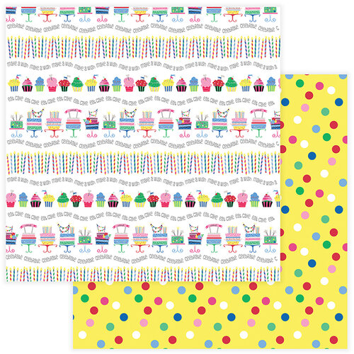 Photo Play Paper - Confetti Collection - 12 x 12 Double Side Paper - Let's Party