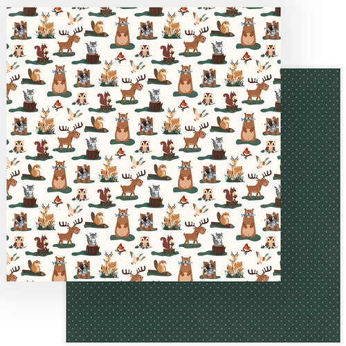 Photo Play Paper - Camp Happy Bear Collection - 12 x 12 Double Sided Paper - Forest Friends