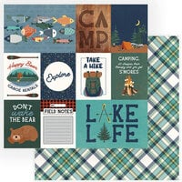 Photo Play Paper - Camp Happy Bear Collection - 12 x 12 Double Sided Paper - Explore