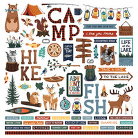 Photo Play Paper - Camp Happy Bear Collection - 12 x 12 Cardstock Stickers - Element