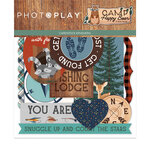 Photo Play Paper - Camp Happy Bear Collection - Die Cut Cardstock Pieces - Ephemera