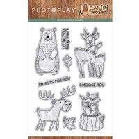 Photo Play Paper - Camp Happy Bear Collection - Clear Photopolymer Stamps