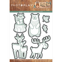 Photo Play Paper - Camp Happy Bear Collection - Etched Die Set