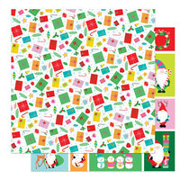 Photo Play Paper - Tulla and Norbert's Christmas Party Collection - 12 x 12 Double Sided Paper - No Peeking
