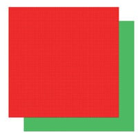 Photo Play Paper - Tulla & Norbert's Christmas Party Collection - 12 x 12 Double Sided Paper - Solids - Red and Green