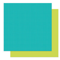 Photo Play Paper - Tulla & Norbert's Christmas Party Collection - 12 x 12 Double Sided Paper - Solids - Lime and Teal