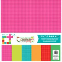 Photo Play Paper - Tulla and Norbert's Christmas Party Collection - 12 x 12 Paper Pack - Solids