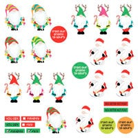 Photo Play Paper - Tulla & Norbert's Christmas Party Collection - 12 x 12 Single Sided Paper - Pre-Colored Die Cut Outs - Gnomies