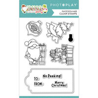 Photo Play Paper - Tulla and Norbert's Christmas Party Collection - Clear Photopolymer Stamps - Christmas Morning
