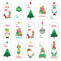 Photo Play Paper - Tulla and Norbert's Christmas Party Collection - 12 x 12 Double Sided Paper - Pre-Colored Die Cut Outs - Christmas Morning