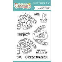 Photo Play Paper - Tulla and Norbert's Christmas Party Collection - Clear Photopolymer Stamps - Ugly Sweater