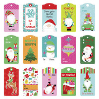 Photo Play Paper - Tulla & Norbert's Christmas Party Collection - 12 x 12 Double Sided Paper - Pre-Colored Die Cut Outs - Tag