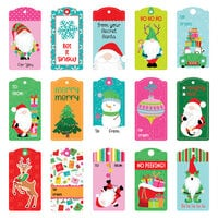 Photo Play Paper - Tulla and Norbert's Christmas Party Collection - 12 x 12 Double Sided Paper - Pre-Colored Die Cut Outs - Tag