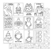 Photo Play Paper - Tulla & Norbert's Christmas Party Collection - 12 x 12 Double Sided Paper - Color Me Cards