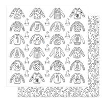 Photo Play Paper - Tulla & Norbert's Christmas Party Collection - 12 x 12 Double Sided Paper - Color Me Ugly Sweaters