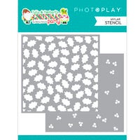 Photo Play Paper - Tulla and Norbert's Christmas Party Collection - Stencils - Holly Berry