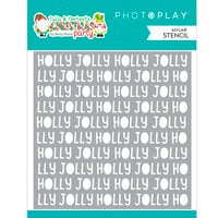 Photo Play Paper - Tulla and Norbert's Christmas Party Collection - Stencils - Holly Jolly Word