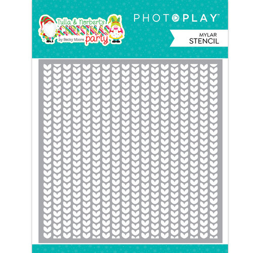 Photo Play Paper - Tulla & Norbert's Christmas Party Collection - Stencils - Ugly Sweater