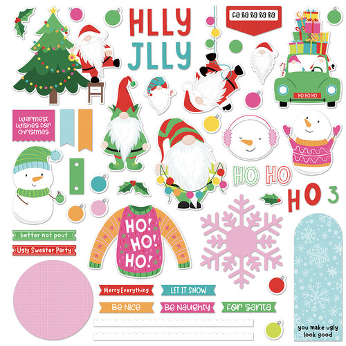 Photo Play Paper - Tulla & Norbert's Christmas Party Collection - Card Kit Stickers