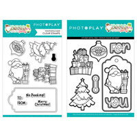 Photo Play Paper - Tulla & Norbert's Christmas Party Collection - Clear Photopolymer Stamps and Dies - Christmas Morning Bundle