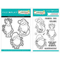 Photo Play Paper - Tulla & Norbert's Christmas Party Collection - Clear Photopolymer Stamps and Dies - Gnomies Bundle