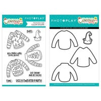 Photo Play Paper - Tulla & Norbert's Christmas Party Collection - Clear Photopolymer Stamps and Dies - Ugly Sweater Bundle