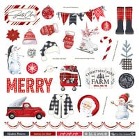 Photo Play Paper - Christmas Cheer Collection - 12 x 12 Cardstock Stickers - Elements